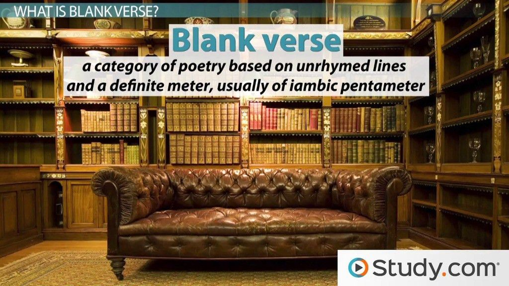 Blank Verse: Definition and Examples - Video & Lesson Transcript ...