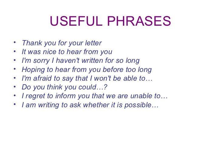 Ppt an informal letter