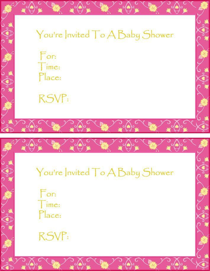 Free Printable Baby Shower Invitations Templates - Invitations ...