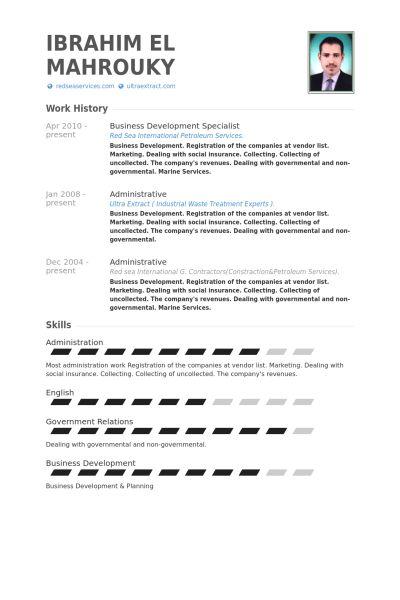 Business Development Specialist Resume samples - VisualCV resume ...