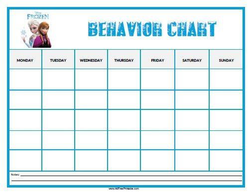 Frozen Behavior Chart - Free Printable - AllFreePrintable.com