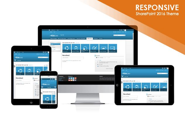 Shades of Monotone 2016 SharePoint 2016 Responsive Theme Package ...