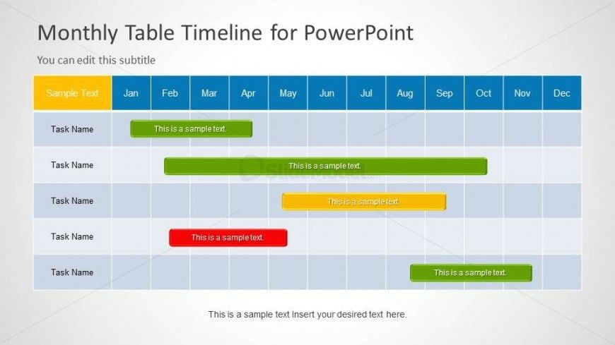 Monthly Timeline Slide Design for PowerPoint - SlideModel
