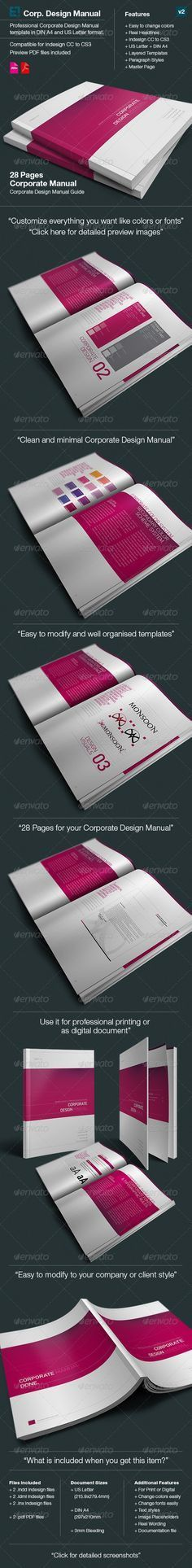 Corporate Identity Manuals and Guides Template A4 | Corporate ...