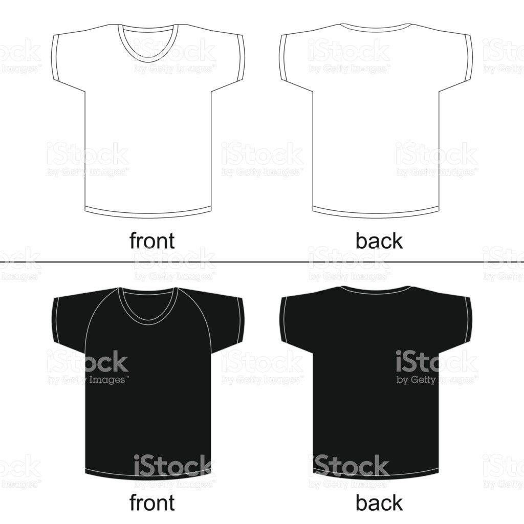 Blank Tshirt Template Front And Back For Printable Vector Fashion ...