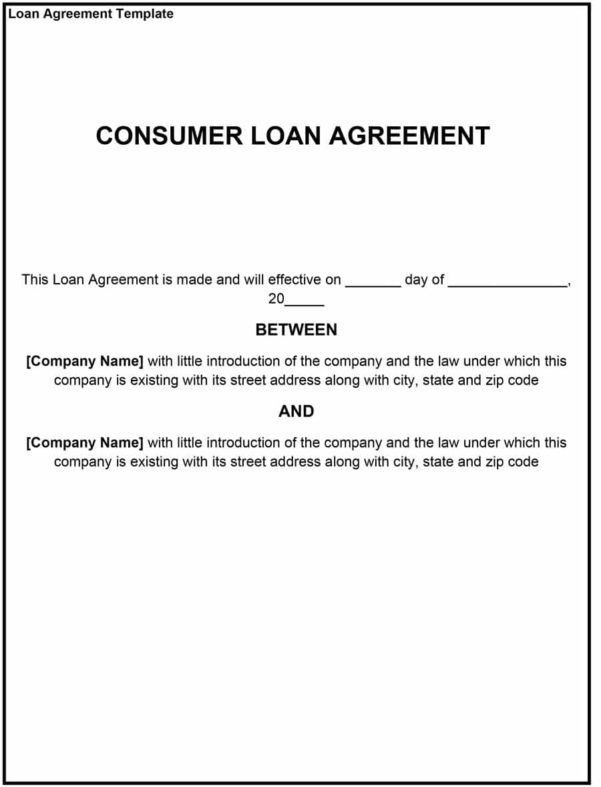 Unsecured Loan Agreement Template Unsecured Loan Agreement ...