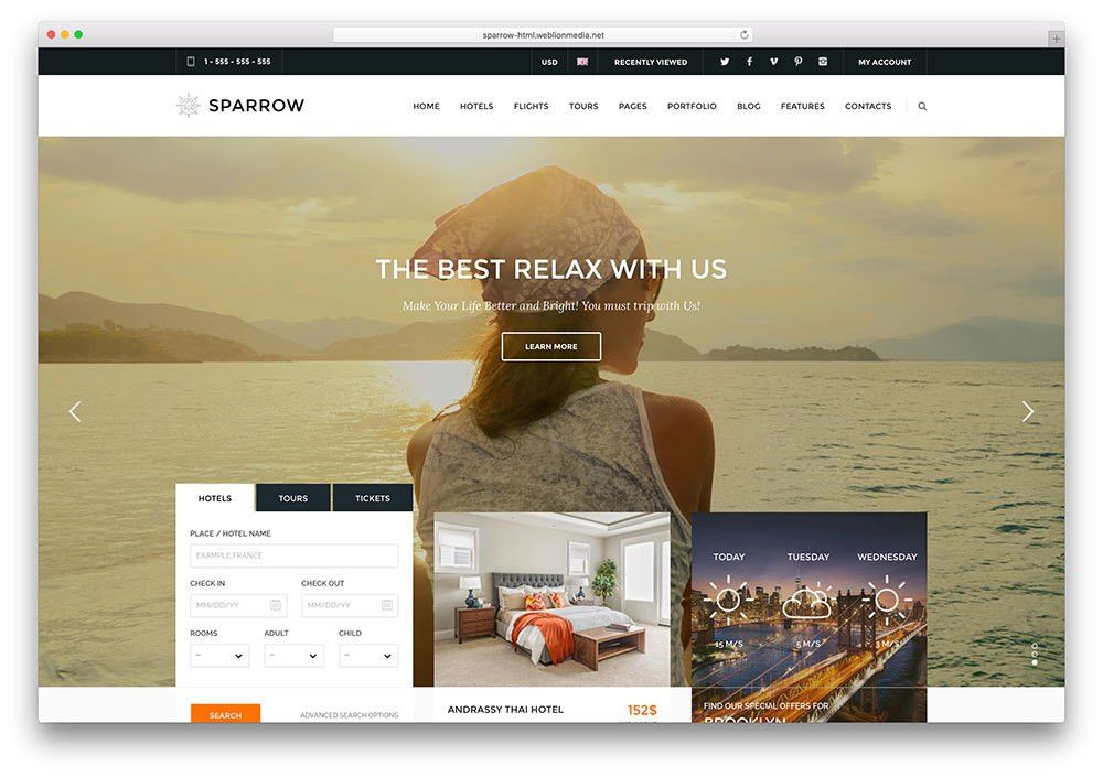 Top 20 Creative HTML5 Travel Website Templates 2017 - Colorlib