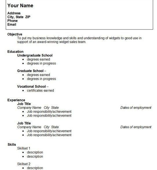high school student resume samples with no work experience ...