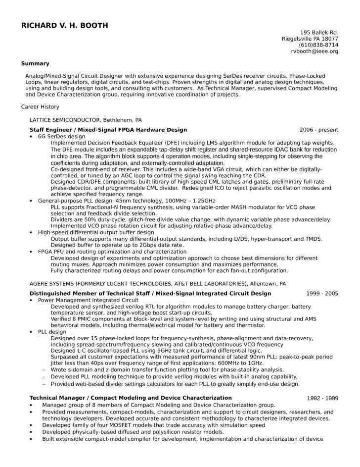 senior hardware engineer resume resumecompanioncom resume samples ...