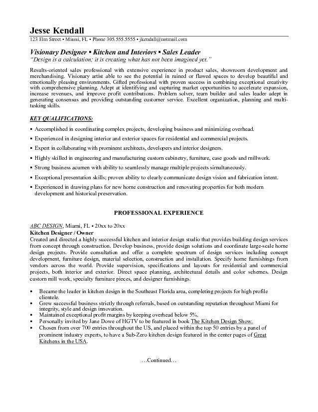 interior design sample resumes Channel 365 - Interior Designer Resume Sample