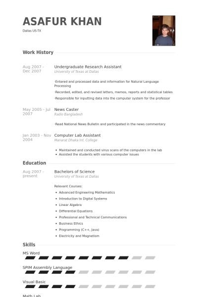 Download Undergraduate Resume Sample | haadyaooverbayresort.com