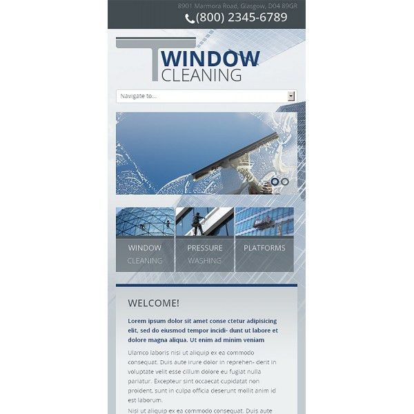 Window Cleaning Bootstrap Website Template 45319 - Discounted ...