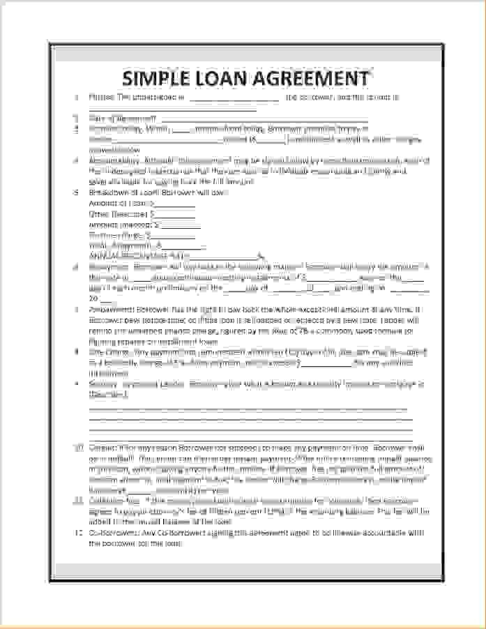 4+ simple loan agreement templateReport Template Document | report ...