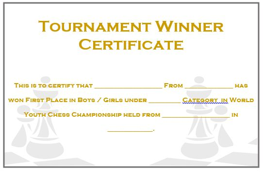 23 Free Printable Chess Certificates You Can Use for Chess ...