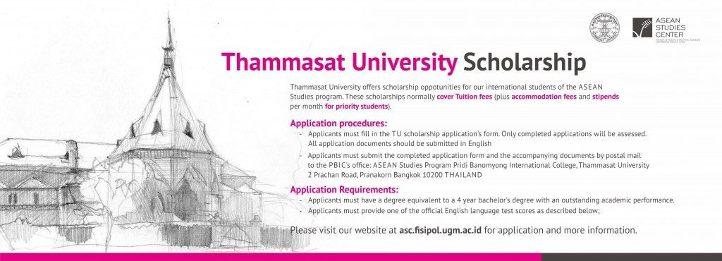 Thammasat University Scholarship for ASEAN Studies Master Program ...