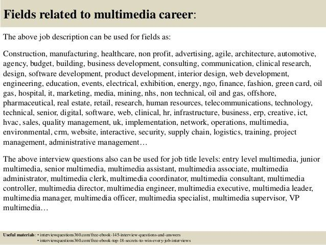 Top 10 multimedia interview questions and answers