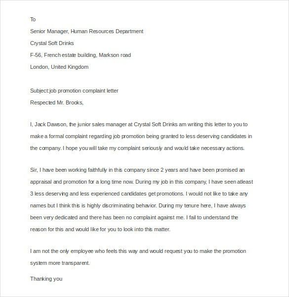 15+ Employee Complaint Letter Templates – Free Sample, Example ...