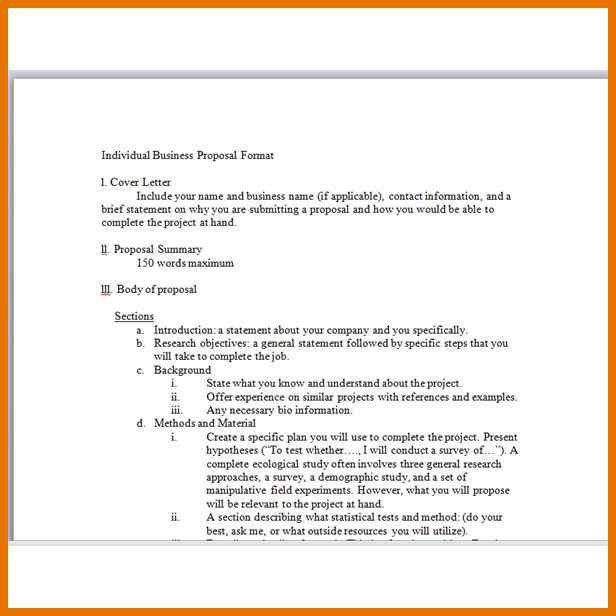 business project proposal example | resume name