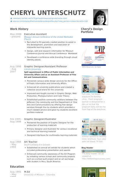 Executive Assistant Resume samples - VisualCV resume samples database