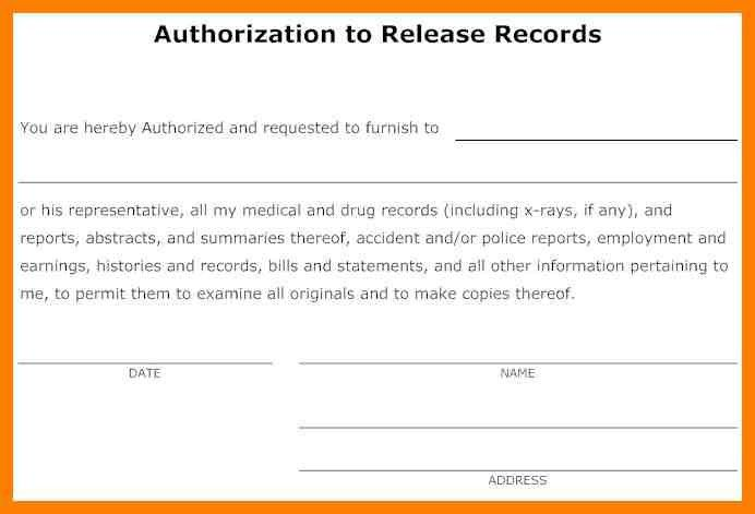 Release Of Medical Information Form. Medical Authorization Form ...