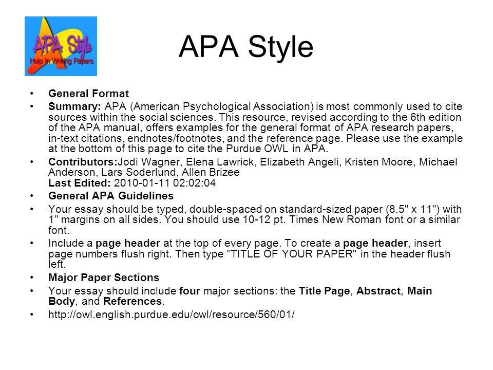 Essay Apa
