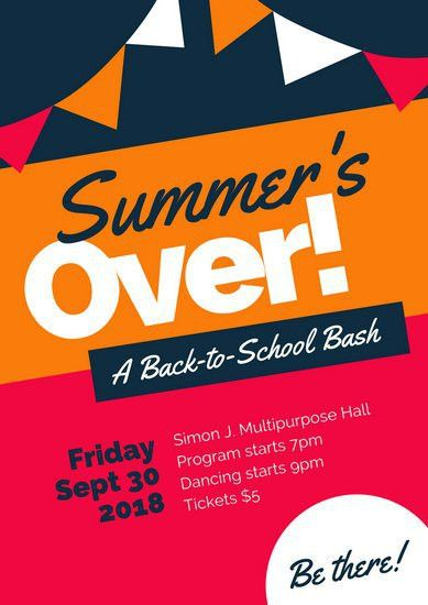 Back To School Poster - Templates by Canva