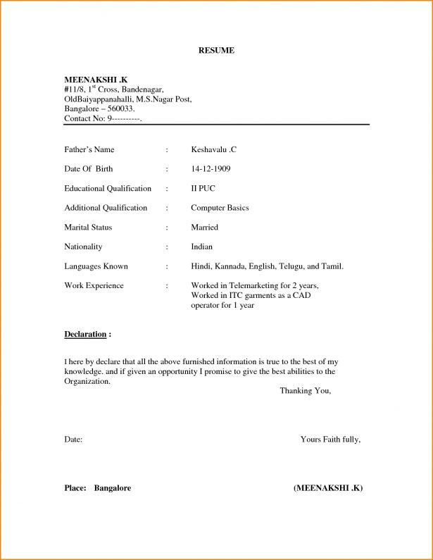 Resume : Example Of Simple Resume Format Expense Report Template ...
