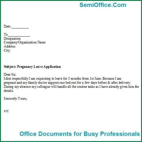 Format For Leave Application For Leave Extension Format And – Sample Leave Application