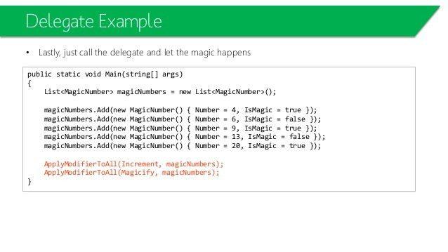C# Starter L06-Delegates, Event Handling and Extension Methods