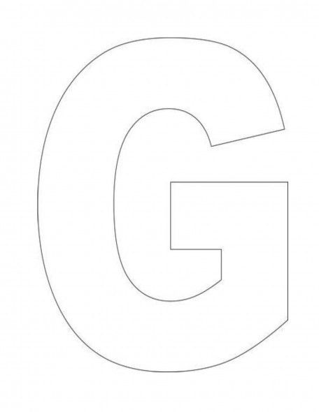 letter G template - Google Search | letter Gg activities ...