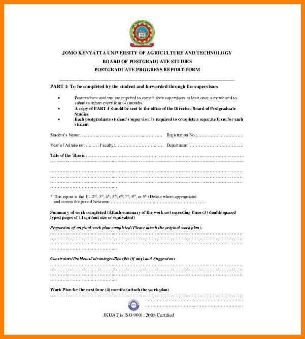 7+ progress report letter sample | resume language