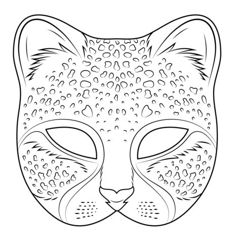 Cheetah Mask coloring page | Free Printable Coloring Pages