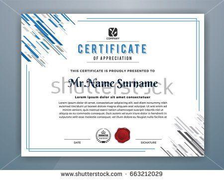 Multipurpose Professional Certificate Template Design Print Stock ...