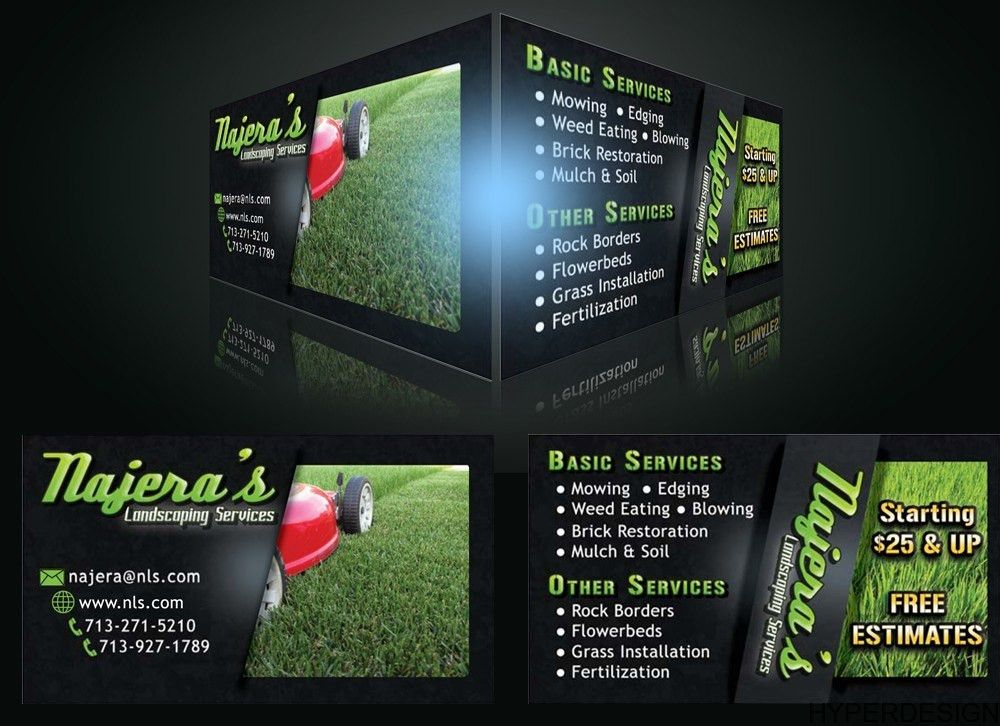 HyperDesign | Lawn Service Business Cards