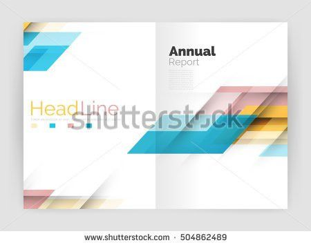 Cover Design Brochure Flyer Annual Report Stock Vector 402050281 ...