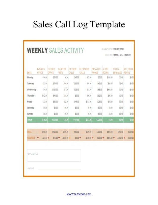 Client call log template