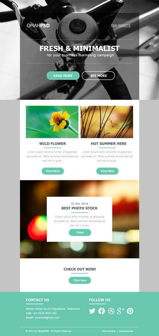 The 25+ best Free email newsletter templates ideas on Pinterest ...