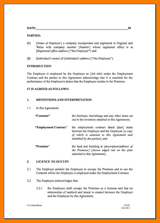 4+ basic tenancy agreement template | park-attendant