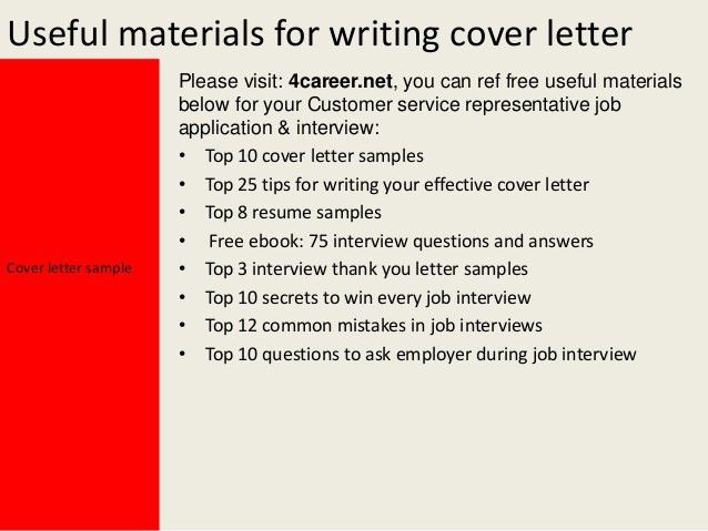 resume cover letter for customer service tips for writing resumes ...