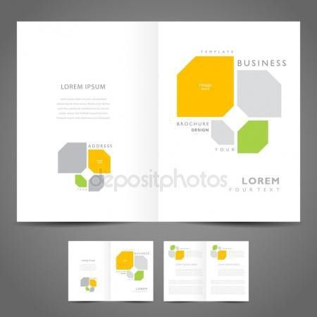 Brochure design booklet template vector geometric abstract figur ...
