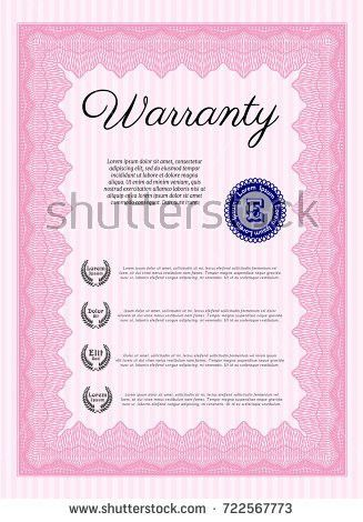 Voucher Gift Certificate Template Colorful Stripy Stock Vector ...