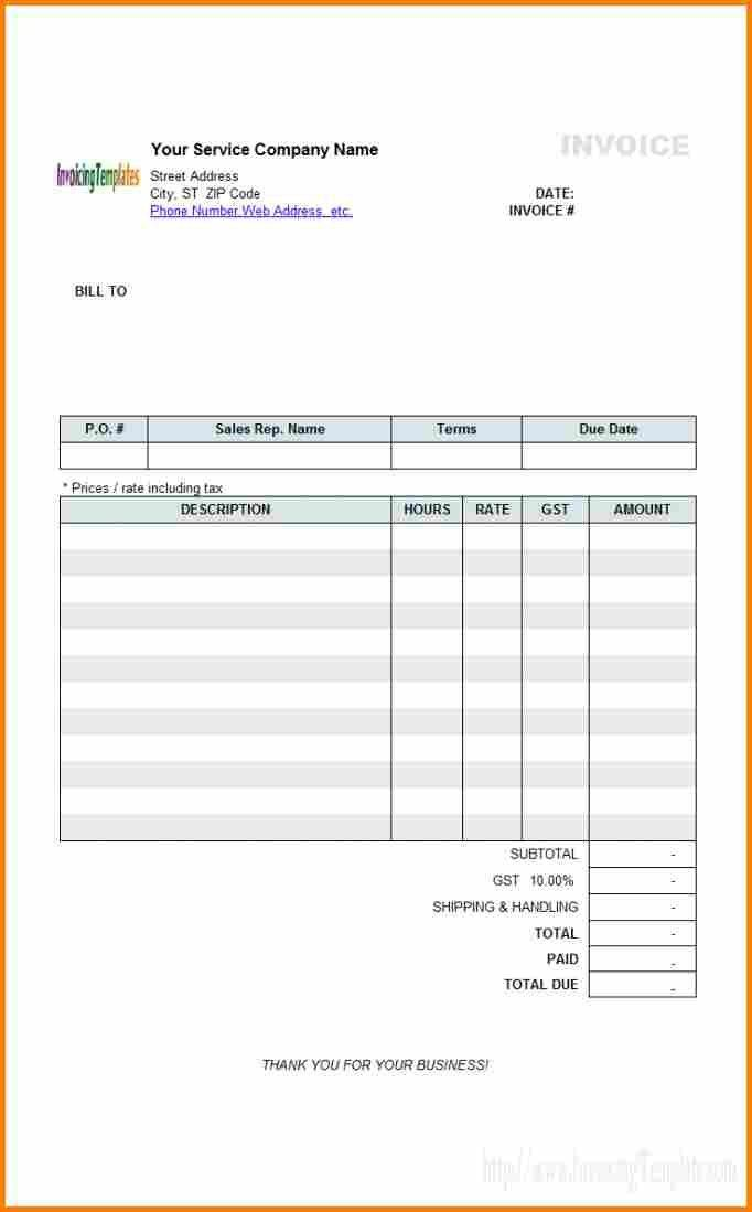 Sample Receipt For Services Sample Invoice For Services ...