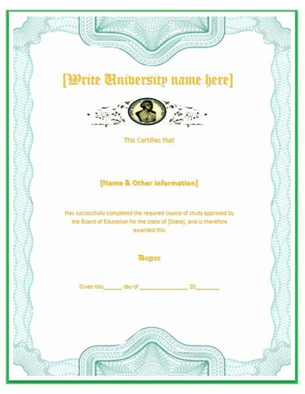 Diploma Template Microsoft Word : Selimtd