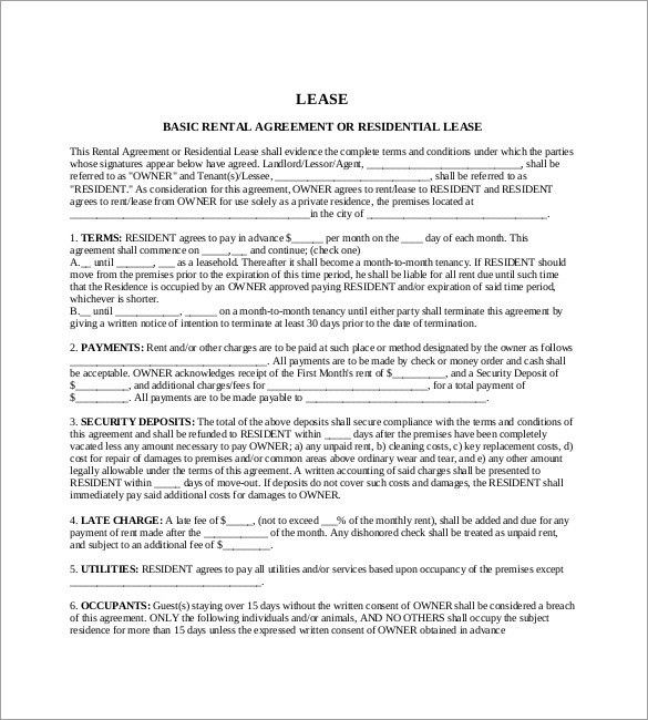 Lease Template – 18+ Free Word, Excel, PDF Documents Download ...
