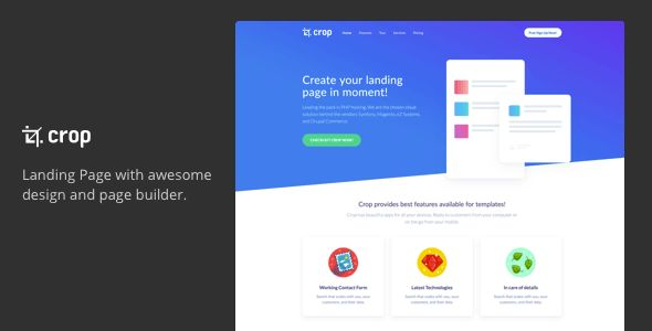 Technology Landing Page Templates from ThemeForest