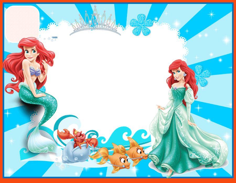 little mermaid invitation template | program format