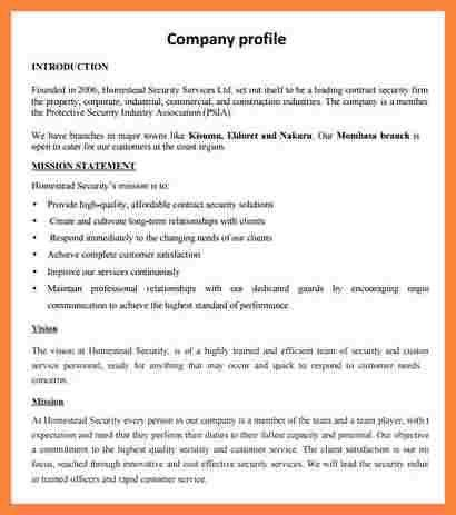 2+ free company profile template word format | Bussines Proposal 2017