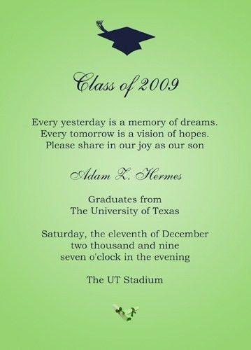 College Graduation Invitation Templates   badbrya.com