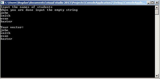 C++ Vector Example