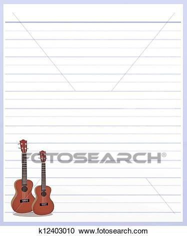 Stock Illustrations of Two Guitar on Purple Color Lined Paper ...